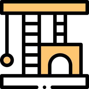 Škrabadlá a mačací nábytok